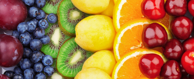 Fresh fruits.Assorted fruits colorful background. Color range